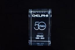 gravacao em vidro delphi  years